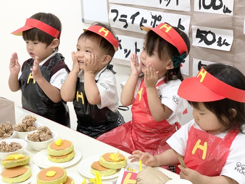 お店屋さんごっこ始まりましたー!《大阪市西区、新町にある幼児教育一体型保育園HUGアカデミー》