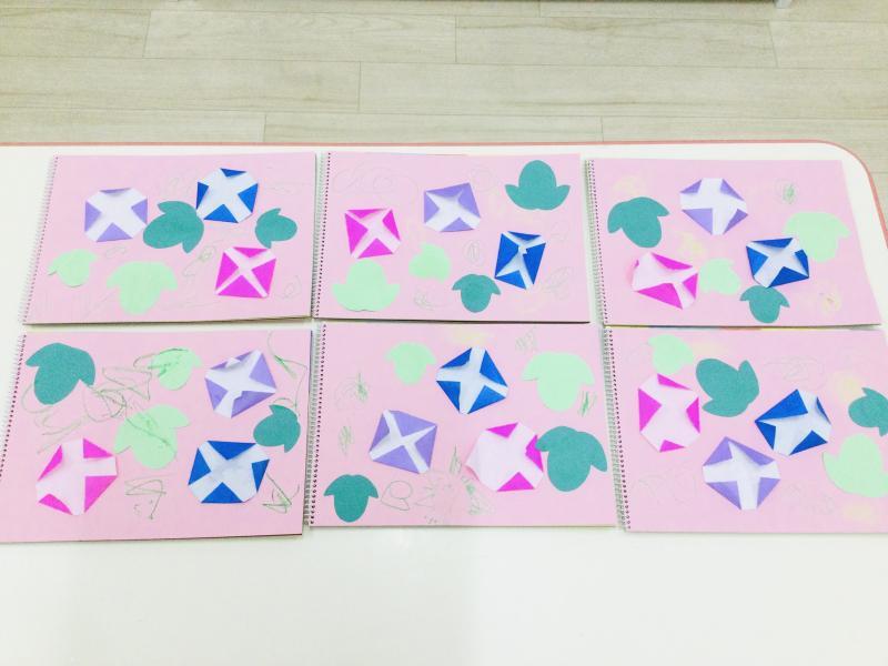 木曜日のカリキュラムは絵画です。《大阪市西区、新町にある幼児教室一体型保育園》