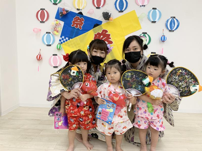 夏祭り!!《大阪市西区、新町にある幼児教育一体型保育園HUGアカデミー》