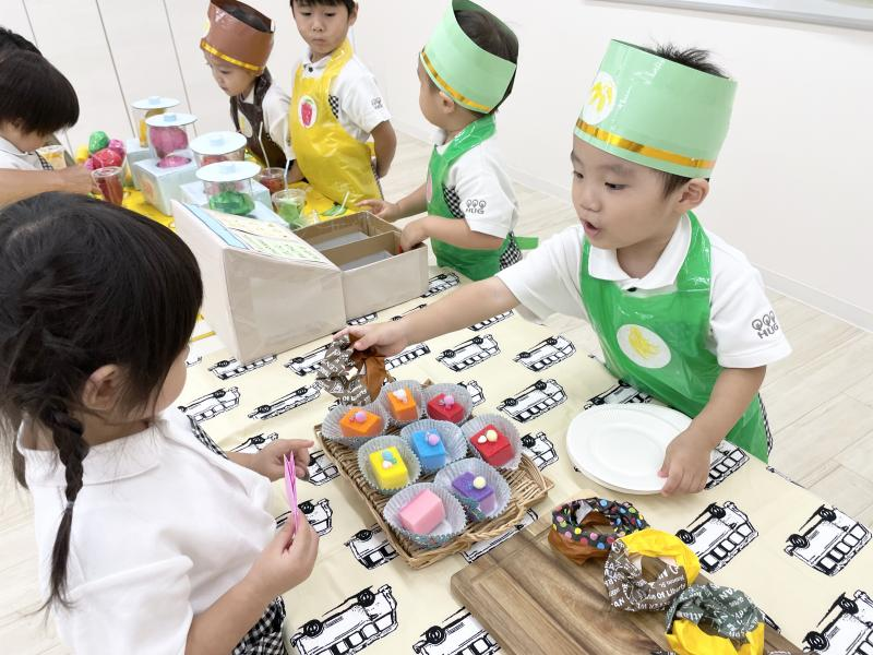 お店屋さんごっこ最終日☆《大阪市西区、新町にある幼児教室一体型保育園》