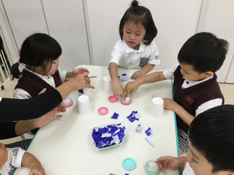 可愛いペンギンさん♪《大阪市西区新町にある幼児教室一体型保育園》